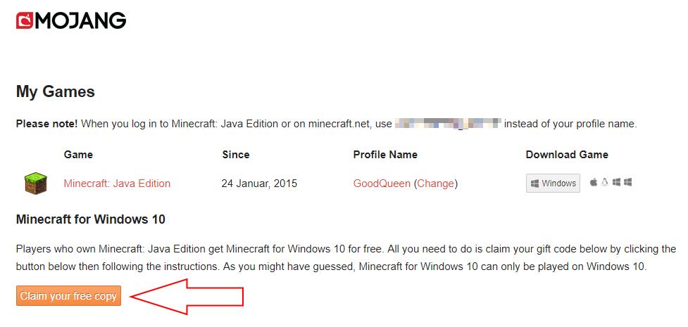 Letzte Chance! Minecraft Bedrock / Win 10 Edition kostenlos