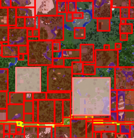 Normale und Projektzone